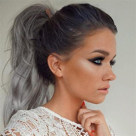 Imgenes De Cabellos Teidos De Gris | tendencia cabello gris c 243 mo te 241 ir el pelo de gris