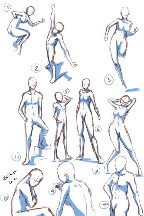 anime poses quick poses by keishajl on deviantart