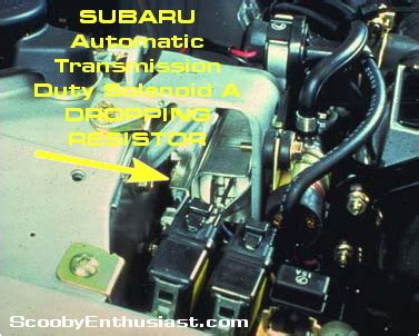 what does a solenoid resistor do subaru automatic transmission solenoid a dropping resistor