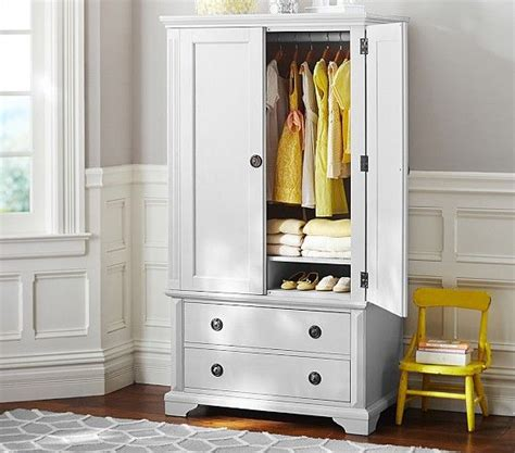 White Chifferobe Armoire Wardrobe Closet Wardrobe Closet Pottery Barn
