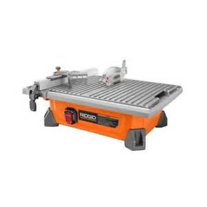 home depot tile saw ridgid 7 in site tile saw r4020 the home depot