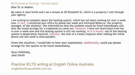 ielts writing lesson general task formal letter