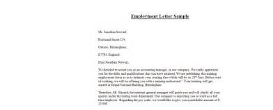 Employment Letter Template Singapore Employment Letter Sle Business Letter Exles