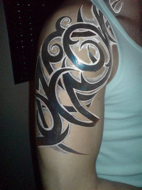shaded tribal tattoo designs exceptional sleeve ideas for