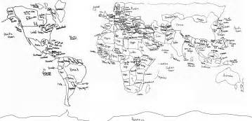 How To Draw A Map Of The World by World Map Drawing Viewing Gallery