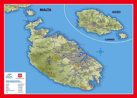 map of malta large detailed elevation and tourist map of malta and gozo