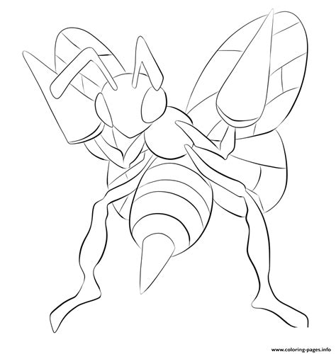 pokemon coloring pages beedrill 015 beedrill pokemon coloring pages printable