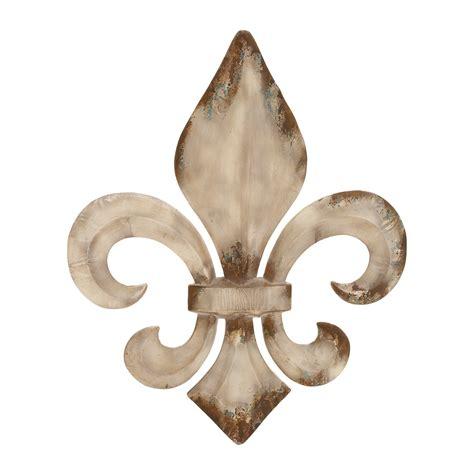 Metal Fleur De Lis Wall Decor by Woodland Imports 52789 Decorative Metal Fleur De Lis Wall