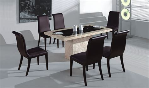 contemporary dining table at the galleria