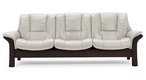 stressless couches circle furniture buckingham stressless lowback sofa