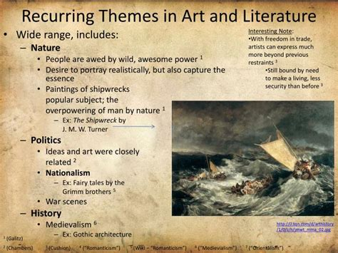 recurring theme definition literature ppt ch 23 romantic art and literature powerpoint