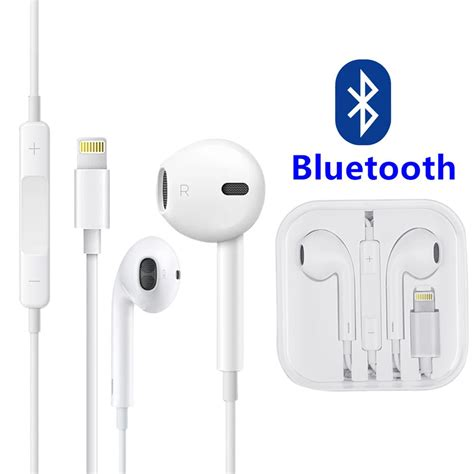 for iphone 7 8 plus x xs bluetooth wired headset earphones w mic volume ebay