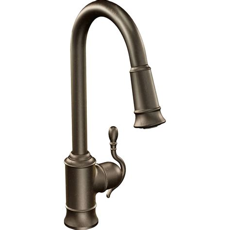 Moen High Arc Kitchen Faucet Moen S7208 Woodmere Single Handle High Arc Kitchen Faucet With Pullout Spray