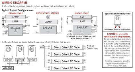 t8 fluorescent ballast wiring diagram on 4 t8 led
