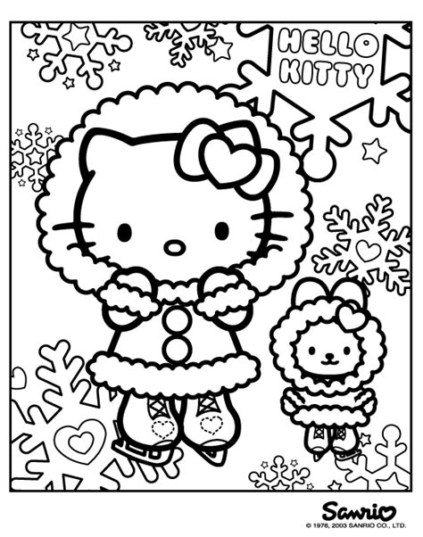 hello kitty skating coloring pages helo kitty omalov 225 nky 1