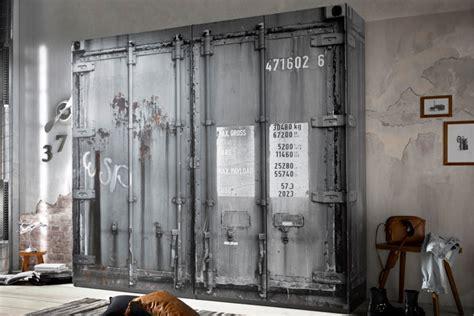 kleiderschrank rustikal moderner kleiderschrank rustikal 240cm in container optik