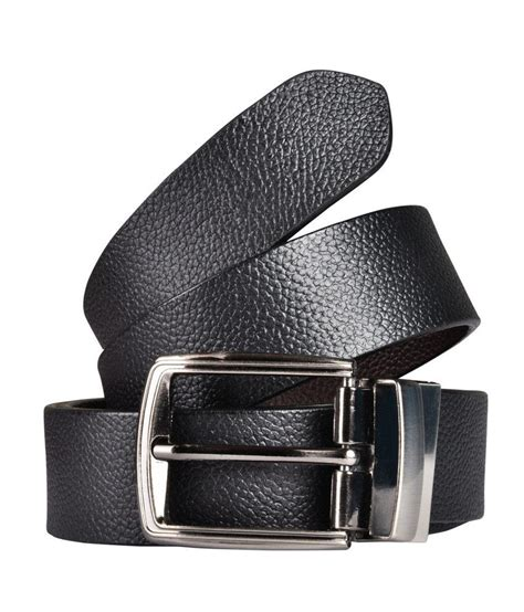 saugat traders black and brown reversible leather belt