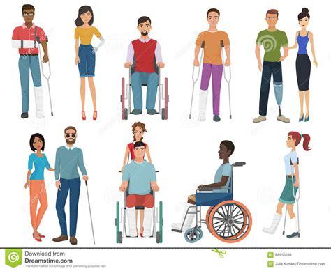 imagenes abstractas de personas personas discapacitadas con los amigos que les ayudan para