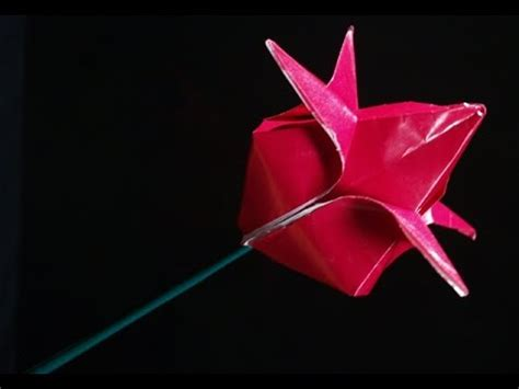Easy Origami For Using A4 Paper - how to make paper flower easy origami magic lotus