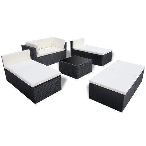 rattan lounge sofa black black rattan outdoor patio poly rattan lounge sofa
