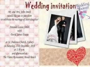 how to make a wedding invitation card using picture collage maker invitation cards of wedding