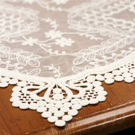 ivory lace runner vintage inspired ivory lace runner ribbon and