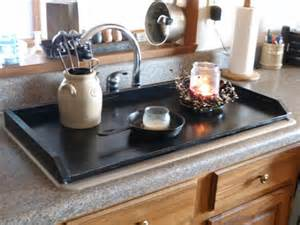Butcher Block Kitchen Island primitive kitchen tray black sink cover by