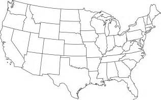 us map with state outlines outline map of the united states of america clipart best