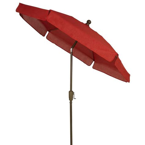 6 Foot Patio Umbrellas Hton Bay 10 Ft X 6 Ft Aluminum Patio Umbrella In Quarry With Push Button Tilt 9106