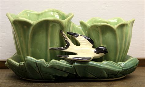 Mccoy Bird Planter by Found In Ithaca 187 Mccoy Planter With Bird Sold