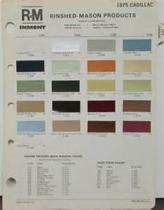Cadillac Paint Colors 1975 Cadillac Color Paint Chips Original Rm Rinshed