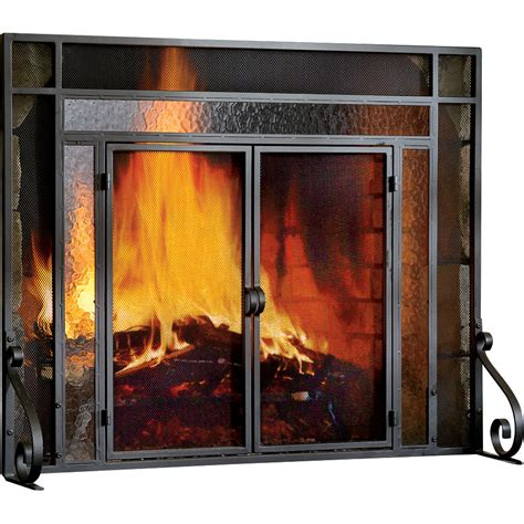 plow hearth 2 panel steel fireplace screen reviews