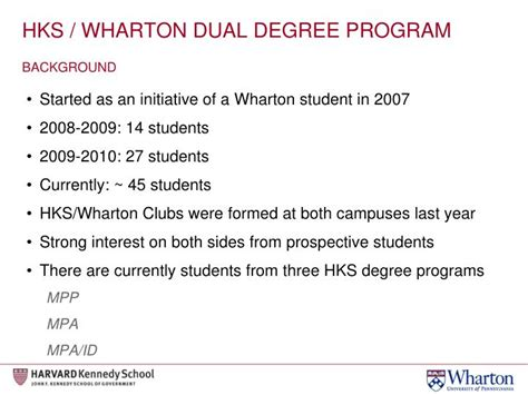 Wharton Mba Admissions Criteria by Ppt Harvard Kennedy School Wharton Mba Dual Degree