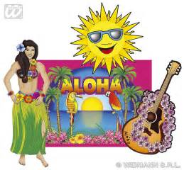 How Long Is Disney Decorated For Christmas Hawaiian Cutouts Decorations Partyworld