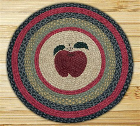 apple rugs 27 inch print patch apple braided earth rug 174