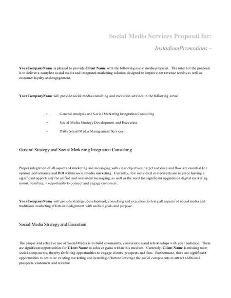 social media proposals templates social media