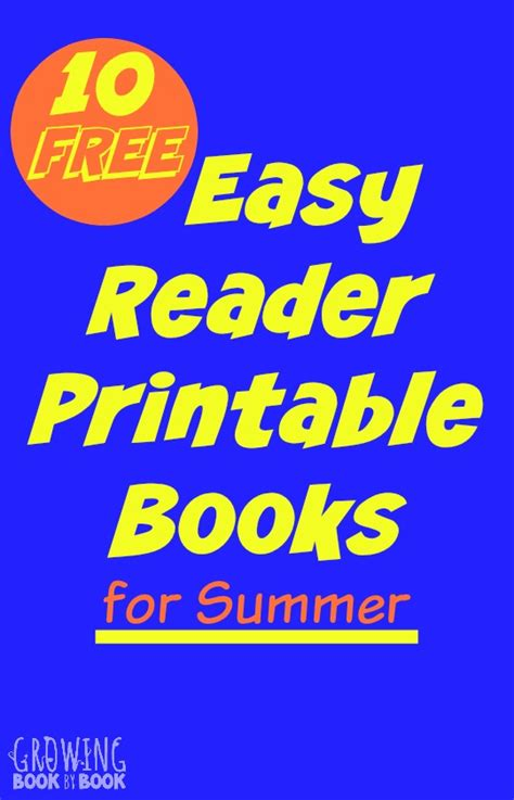 Summer Easy Reader Printable Books For Kids Printable Books