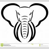 Head of an Elephant, ideal as an emblem or logo for related businesses ...
