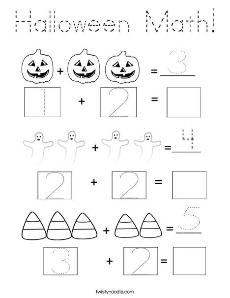 math block coloring pages halloween math coloring page tracing twisty noodle