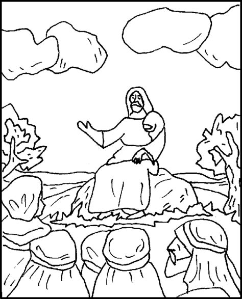 Luke 6 Coloring Pages by The Sermon On The Plain Coloring Page
