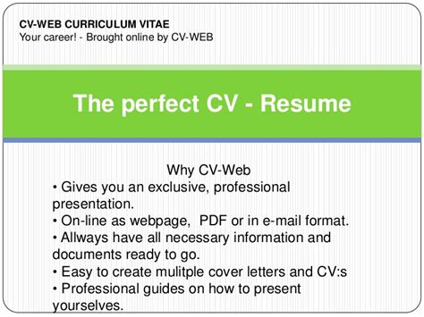 Best Resume Demo by The Perfect Cv Resume Demo