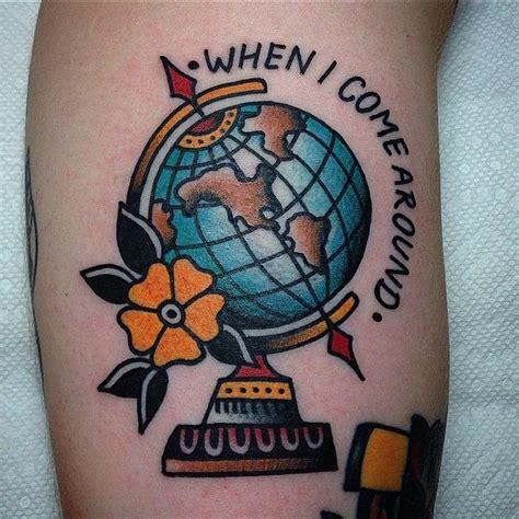 traditional globe tattoo the 25 best globe tattoos ideas on earth