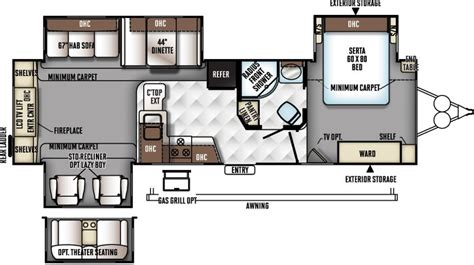 rockwood travel trailers floor plans 2017 forest river rockwood signature ultra lite 8325ss