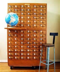 vintage 84 drawer maple card catalog antiques cards