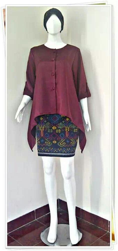 Baju Atasan Blouse Muslim Salom Blouse 88 best images about blus batik on javanese batik blazer and cool patterns