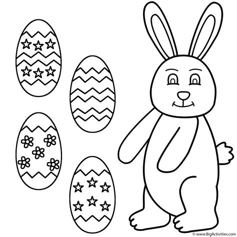 easter bunny with easter eggs coloring page easter