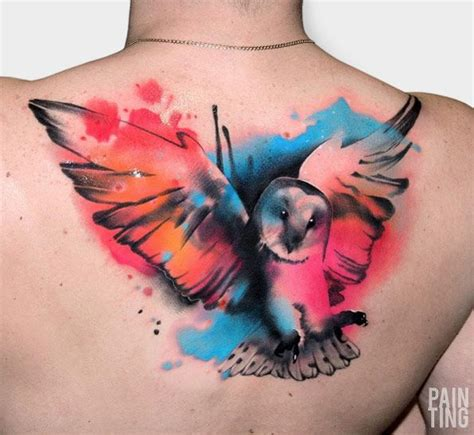 watercolor tattoos reno best 25 watercolor owl tattoos ideas on owl