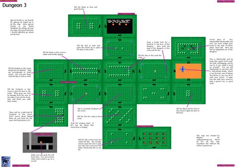 legend of zelda nes map of dungeons vgm maps and strategies
