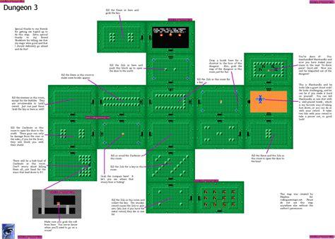 legend of zelda nes map dungeon vgm maps and strategies