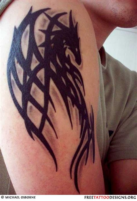 tribal dragon sleeve tattoo gallery